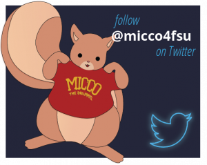 Follow Micco the Squirrel on Twitter to follow FSU FCPR - the Florida Center for Prevention Research